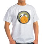 Happy Halloween Greetings (Front) Light T-Shirt