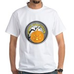 Happy Halloween Greetings (Front) White T-Shirt