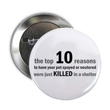 "10 Reasons to Spay/Neuter 2.25"" Button (100 pack)"