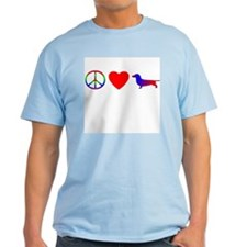 Peace, Love, Dachshund T-Shirt