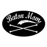 Baton Mom Oval Decal
