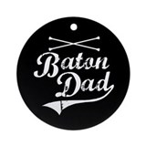 Baton Dad Ornament (Round)