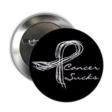 "Cute Cancer sucks 2.25"" Button (100 pack)"