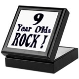 9 Year Olds Rock ! Keepsake Box