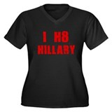 I HATE HILLARY SHIRT HILLARY  Women's Plus Size V-