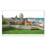 Old Quebec Panoramic View Rectangle Decal