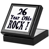 26 Year Olds Rock ! Keepsake Box