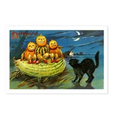 Black Cat & Pumpkins Postcards (Package of 8)
