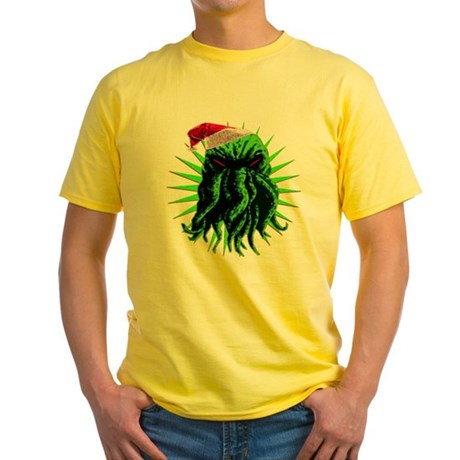 Cthulhu Christmas Yellow T-Shirt