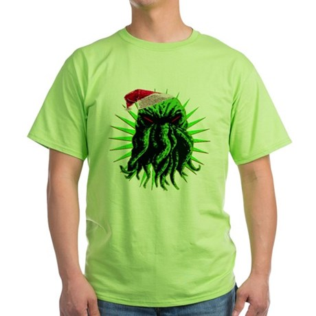 Cthulhu Christmas Green T-Shirt