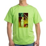 Halloween Scary Stories (Front) Green T-Shirt
