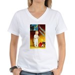 Halloween Scary Stories (Front) Women's V-Neck T-S