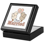 Just Married Bride Groom Wedding Keepsake Box