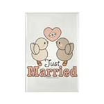 Just Married Bride Groom Wedding Magnet 100 pack