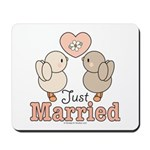 Just Married Bride Groom Keepsake Mousepad