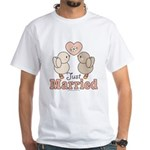 Just Married Bride Groom Bridal Wedding T-Shirt