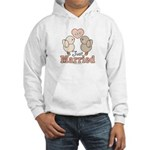 Just Married Bride Groom Wedding Hooded Sweatshirt