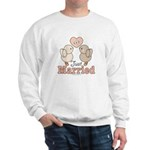 Just Married Bride Groom Bridal Wedding Sweatshirt