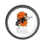 Halloween Black Cat & Witch Wall Clock