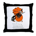 Halloween Black Cat & Witch Throw Pillow