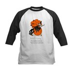 Halloween Black Cat & Witch Kids Baseball Jersey