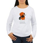 Halloween Black Cat & Witch (Front) Women's Long S