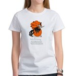 Halloween Black Cat & Witch (Front) Women's T-Shir