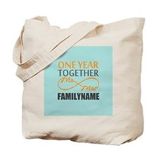 1st Anniversary Infinity Personalized Tote Bag