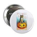 Halloween Owl & Pumpkin Button