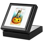 Halloween Owl & Pumpkin Keepsake Box