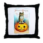 Halloween Owl & Pumpkin Throw Pillow