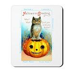 Halloween Owl & Pumpkin Mousepad
