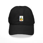 Halloween Owl & Pumpkin Black Cap