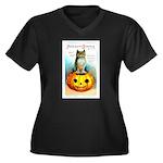 Halloween Owl & PUmpkin (Front) Women's Plus Size