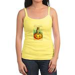 Halloween Owl & Pumpkin Jr. Spaghetti Tank