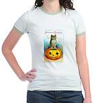 Halloween Owl & Pumpkin Jr. Ringer T-Shirt