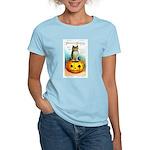 Halloween Owl & Pumpkin Women's Light T-Shirt