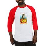 Halloween Owl & Pumpkin Baseball Jersey