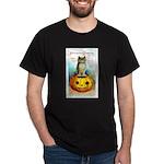 Halloween Owl & PUmpkin (Front) Dark T-Shirt