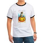 Halloween Owl & PUmpkin (Front) Ringer T