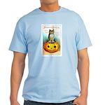 Halloween Owl & Pumpkin Light T-Shirt