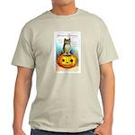 Halloween Owl & PUmpkin (Front) Light T-Shirt