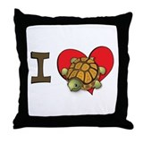 I heart turtles Throw Pillow