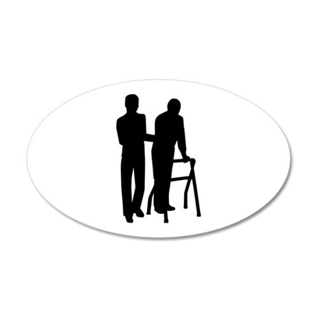 Caregiver 35x21 Oval Wall Decal