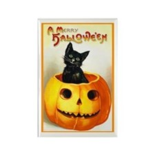 Jackolantern Black Cat Rectangle Magnet