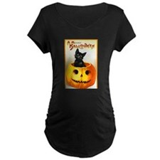Jackolantern Black Cat (Front) T-Shirt