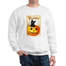 Jackolantern Black Cat (Front) Sweatshirt