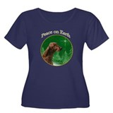 Irish Setter Peace Women's Plus Size Scoop Neck Da