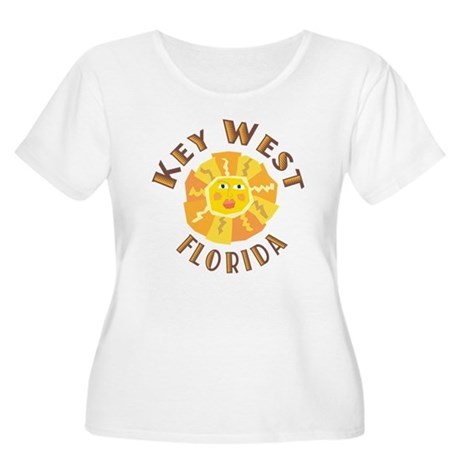 Key West Sun - Women's Plus Size Scoop Neck T-Shi