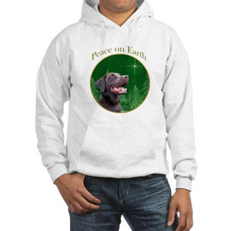 Chocolate Lab Peace Hooded Sweatshirt